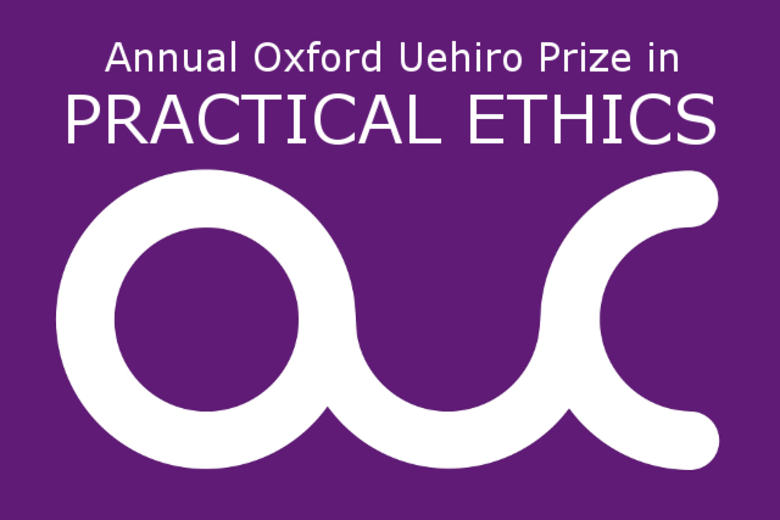 Annual Oxford Uehiro Prize in Practical Ethics OUC purple and white logo