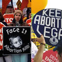 Abortion protestors from both sides