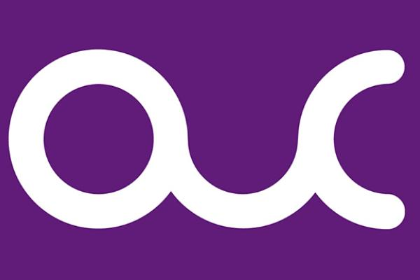 Simple OUC purple and white logo