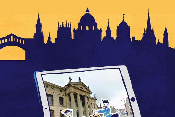 Virtual tour cartoon image from Uncomfortable Oxford