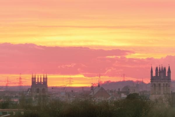 Orange Oxford Skyline