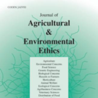 journal of agricultural and environmental ethics