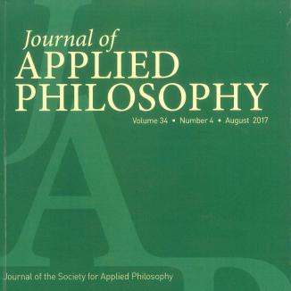 journal of applied philosophy